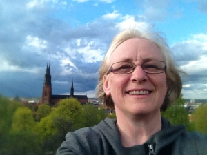 View from Uppsala Castle. Sorry my big head is in the way.